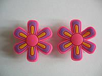 Джибитсы (Jibbitz) цветок роз\фиолет 2 шт