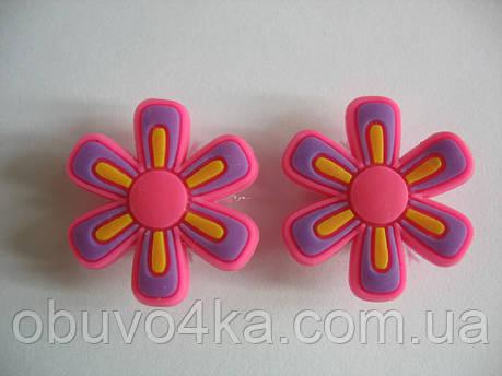 Джибитсы (Jibbitz) цветок роз\фиолет 2 шт, фото 2