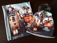Комплект Star Wars Роботы R2D2 Волли на флисе