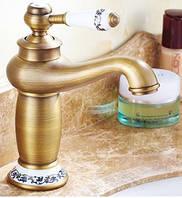 Смеситель кран для умывальника в ванную однорукий бронза 0015, фото 1