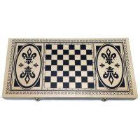 Шахи, шашки, нарди 38 см (3-в-1), фото 1