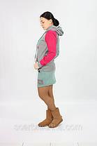 Толстовка с юбкой SY №9151серо-оливковый  Артикул: 136454  Цена опт. : 274.00 грн.  Цена розн.: 348.00 грн., фото 2