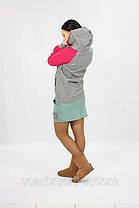 Толстовка с юбкой SY №9151серо-оливковый  Артикул: 136454  Цена опт. : 274.00 грн.  Цена розн.: 348.00 грн., фото 3