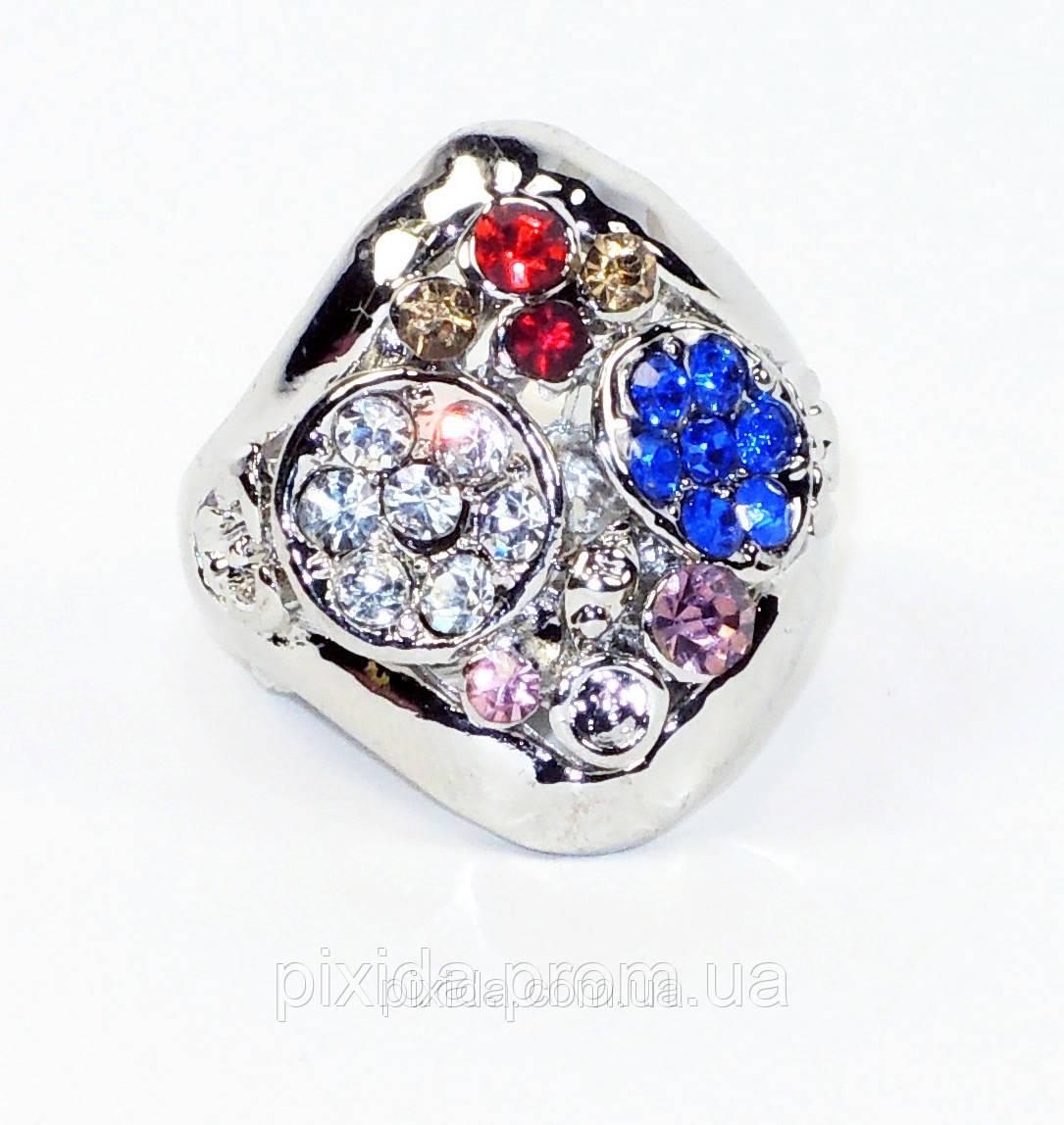 Кольцо перстень ромб фианиты качество