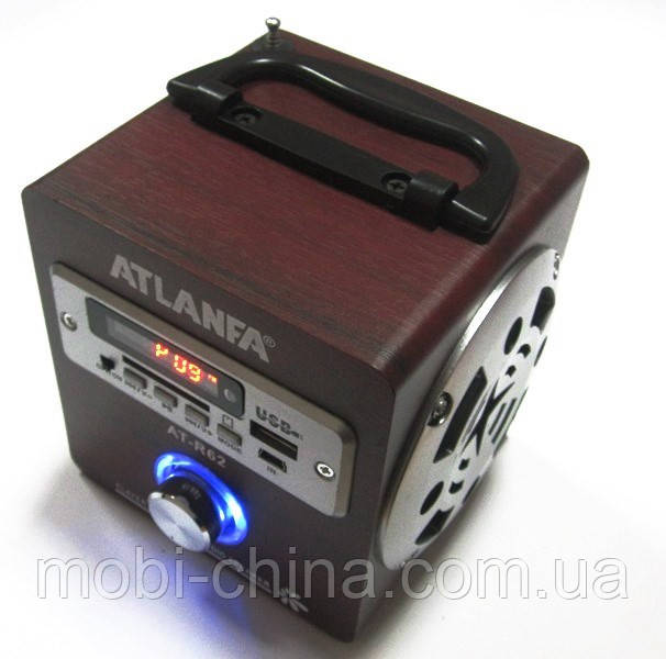 Акустика Atlanfa AT-R62, MP3 SD USB FM, red 1