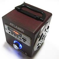 Акустическая колонка  Atlanfa AT-R62, MP3/SD/USB/FM, red, фото 1