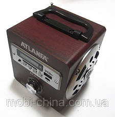 Акустика Atlanfa AT-R62, MP3 SD USB FM, red 1, фото 3