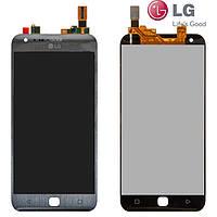 Дисплейный модуль (дисплей + сенсор) для LG X Cam F690S, оригинал, серый