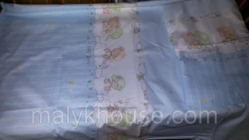 Дитячий постільний комплект в ліжечко (підодіяльник 110х145)