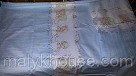 Детский постельный комплект в кроватку (пододеяльник 110х145)