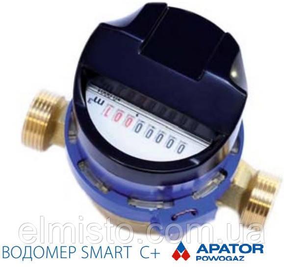 """Водосчетчик JS-1,6 ХВ SMART C+ ДУ-15 1/2""""  Apator POWOGAZ  на холодную воду кл.т. """"С"""" антимагнитная защита"""