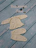 Кофта и штаны для новорожденного (травка), р. 1-3 мес.