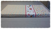 Простыня на резинке в кроватку для новорожденного (120х60см)