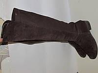 Высокие сапоги ботфорды -Замша _стиль _ Германия _ 38р _25.5 Н33