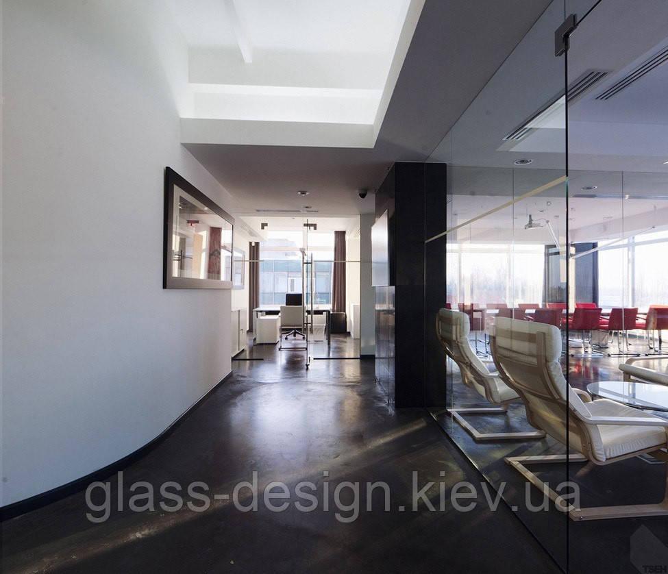 Стеклянная перегородка в офисе - Glass-Design в Киеве