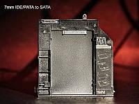 Optibay Оптибей 7mm IDE/PATA to SATA HDD SSD 7mm hard drive caddy For IBM Lenovo ThinkPad x300 x301 DVD Drive, фото 1