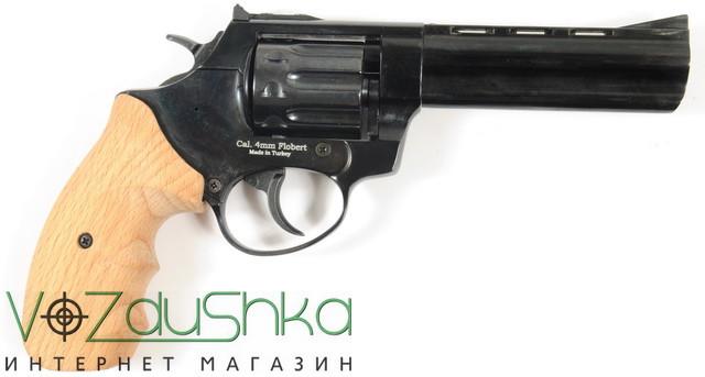 револьвер под патрон флобера ekol major berg 4.5 с буковыми накладками