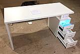 Маникюрный стол с вытяжкой и УФ лампой V115, фото 2