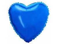 """Фольгированный шар 201500А Сердце 18"""" синее"""