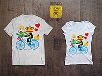 """Парные футболки для двоих с принтом """"Paul Frank"""""""