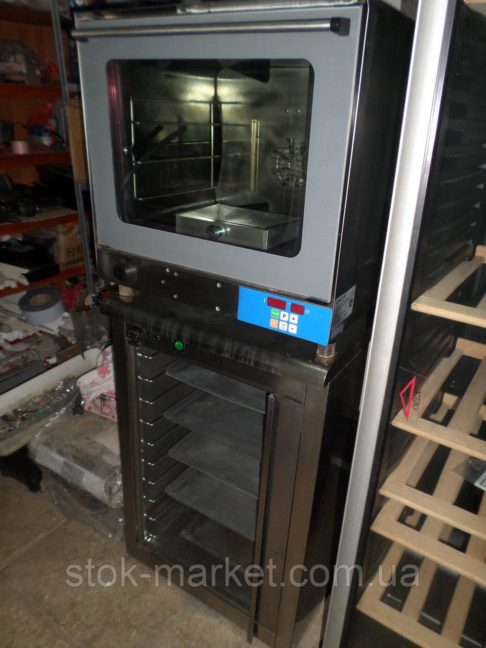 Пароконвекционная печь UNOX XF 030 - TG + расстоечный шкаф UNOX XL 040 (комплект), пароконвектомат, расстойка,