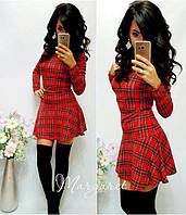 Женское платье Шотландка красная клетка