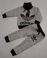 """Детский теплый костюм """"Adidas"""" без капюшона, под горло, на флисе, рост от 80 до 116 см"""
