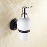 Настенный дозатор для жидкого мыла для кафе ресторана супермаркета магазина черный, фото 2