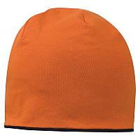 Шапка двухсторонняя, оранжевый-черный