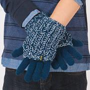 """Варежки перчатки комбинированные, темно-синие+синий """"меланж"""", мальчик  133BFLC003 BRUMS, Италия"""