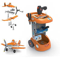 Тележка с инструментами Smoby Planes Dusty с самолетом и аксесcуарами