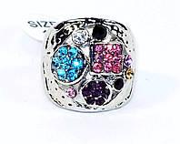 Кольцо перстень фианиты качество
