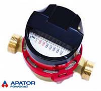 """Водосчетчик JS-90-1,6 ГВ SMART C+ ДУ-15 1/2""""  Apator POWOGAZ  на горячую воду, кл.т. """"С"""", антимагнитная защита"""