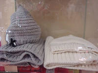 Комплект из 2-х ед шапка+шарф, девочка, белый, серый, 9153 Viaelisa, Италия