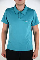 Поло, футболка мужская Найк, супер качество, синияя