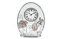 """Часы """"Jardin D`ete"""" """"Бабочка с розой и тюльпаном"""""""