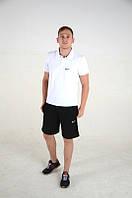 Поло, футболка мужская Найк, супер качество, белая