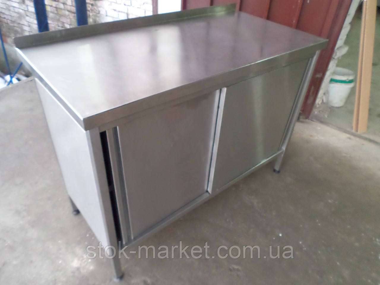Производственный стол б/у, стол-тумба из нержавеющей стали б/у, стол производственный бу, стол из нержавеющей