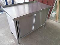 Производственный стол б/у, стол-тумба из нержавеющей стали б/у, стол производственный бу, стол из нержавеющей , фото 1