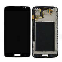 Дисплей (LCD) LG D680 G Pro Lite/ D682 G Pro Lite Dual с сенсором черный + рамка