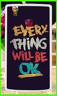 "Силиконовый чехол с принтом ""every thing will be ok"" для Doogee x5 max / x5 max pro"