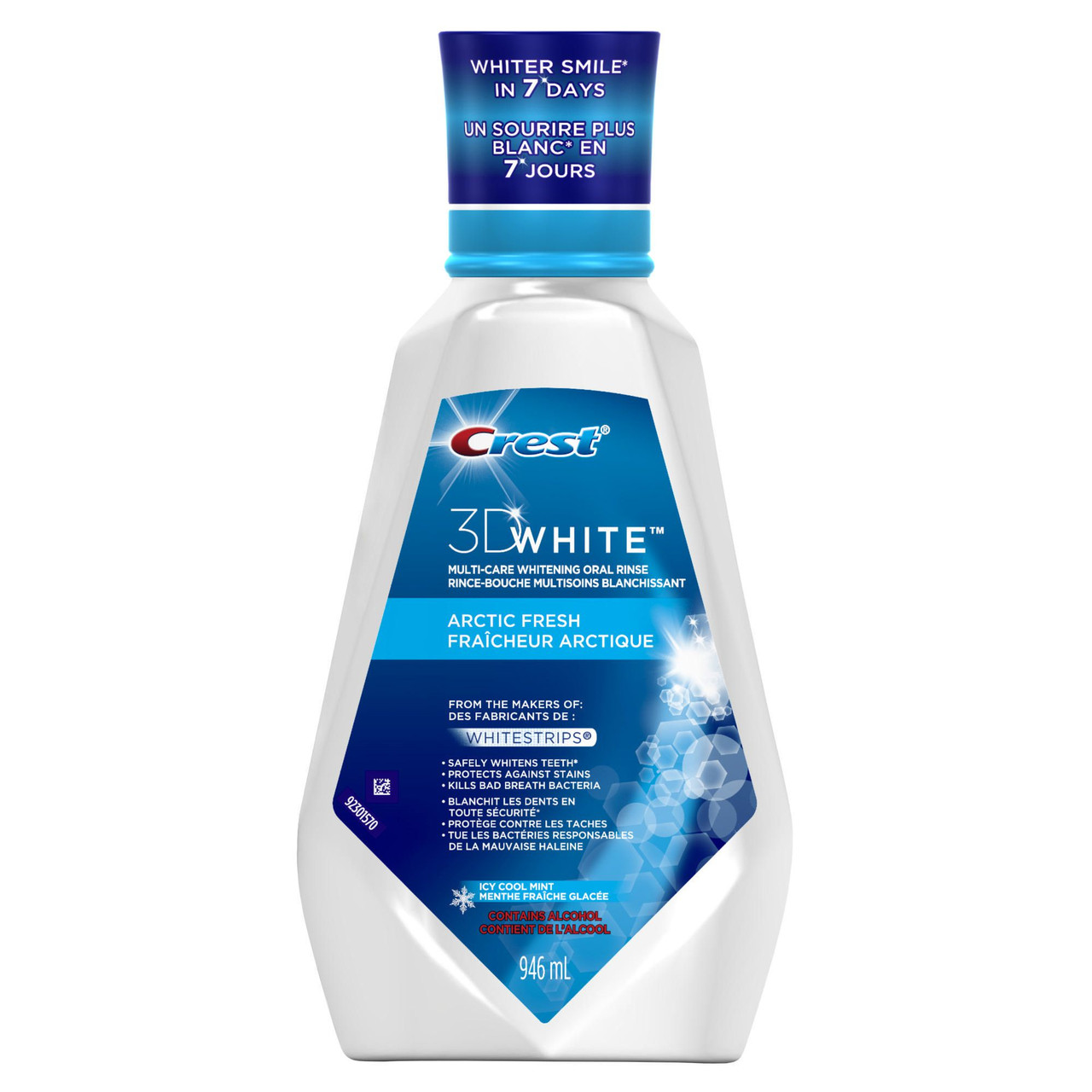 "Crest Mouthwash 3D White Luxe Arctic Fresh Icy Cool Mint- Ополаскиватель ""Ледяная мята"", 946 мл"