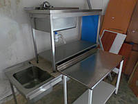 В этой группе вы найдете изделия из нержавеющей стали, такие как: мойки промышленные, мойки кухонные, столы с