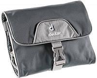 Практичная серая косметичка Wash Bag I Deuter цвет 4400 granite-silver