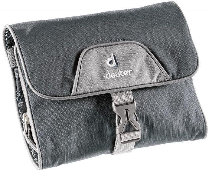 Женская практичная серая косметичка Wash Bag I Deuter цвет 4400 granite-silver