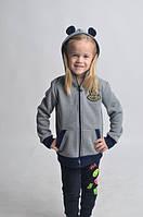 Теплый модный детский батник с ушками оптом и в розницу