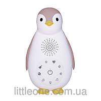 ZOE (ЗОЕ) Пингвинёнок - Ночничок и музыкальный бокс с  Bluetooth  в одном  с автоматическим отключением розовы