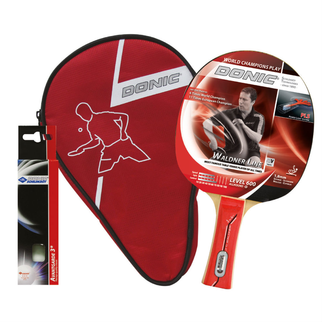 Набір для пінг-понгу Donic Waldner 600 Gift set ракетка+чохол+3 м'ячі (788481)