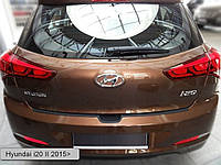 Пластиковая защитная накладка на задний бампер для Hyundai i20 II 2015>, заказ. № N-40