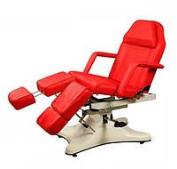 Педикюрно – косметологическая кресло-кушетка на гидравлическом подъемнике ZD-823A, цвет-красный